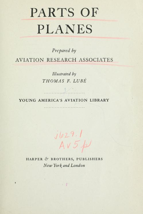 Parts of planes by Aviation Research Associates